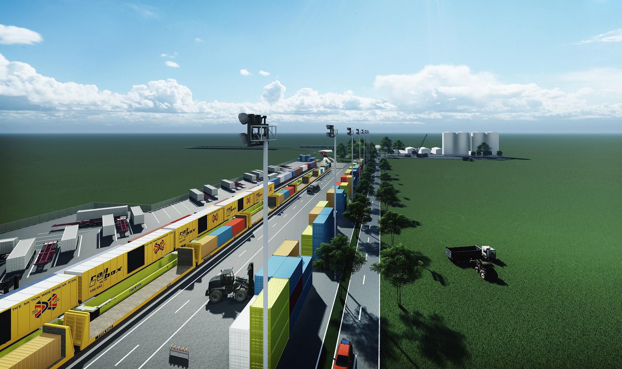 Arad intermodales Terminal-Rendering